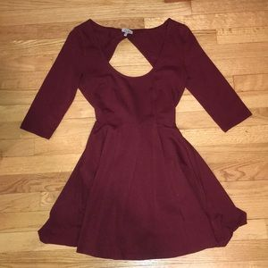 Burgundy Dress with Bow in the back